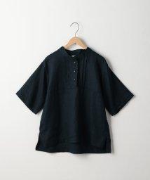 coen/【先行販売】フレンチリネンバンドカラーブラウス/501025911