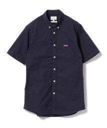 BEAMS MEN/BEAMS / ストレッチ オックス エンブレム ボタンダウンシャツ/500902528