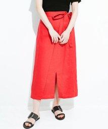 haco!/縦ラインですっきり見える 麻100%のタイトスカート/501013308