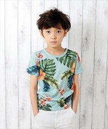 GLAZOS/ボタニカルプリント半袖Tシャツ/501025296