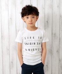 GLAZOS/英字デザイン半袖Tシャツ/501025299