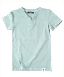 GLAZOS/製品染めスキッパー半袖Tシャツ/501025302
