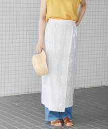SLOBE IENA/フラワーレース巻きスカート◆/501029490