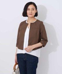 OFUON/【洗える】コットン羽織りジャケット/500909069