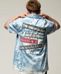 CavariA/CavariA【キャバリア】ワッペン貼付けオープンカラー半袖シャツ/501030857