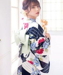Dita/Dita【ディータ】1人で簡単に着られる作り帯の可愛い女性浴衣 4点フルセット(ゆかた・作り帯・下駄・着付けカタログ)2:レトロ椿寄せ/501030880