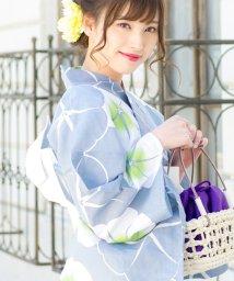 Dita/Dita【ディータ】1人で簡単に着られる作り帯の可愛い女性浴衣 4点フルセット(ゆかた・作り帯・下駄・着付けカタログ)/501031001