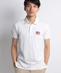 STYLEBLOCK/USA星条旗胸刺繍鹿の子半袖ポロシャツ/501019868
