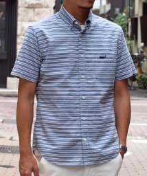 NOLLEY'S goodman/クジラ刺繍半袖ボタンダウンシャツ/501021274