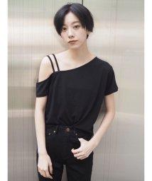 MURUA/アシメショルダーTシャツ/501028329