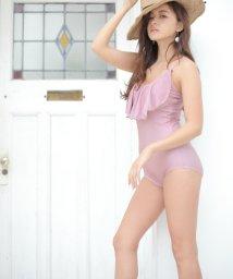 RINORINO./胸フリルスイムワンピース 水着 ビキニフリル 可愛い 女性用 レディース 大人 体型カバー ママ  タンキニ モノキニ/501031058