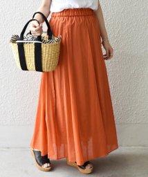 SHIPS WOMEN/【手洗い可能】フレアマキシスカート◇/501031905