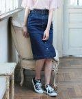 JUSGLITTY/【追加生産】デニムロングタイトスカート/501033092