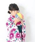 devirock/花柄総柄プリント浴衣 兵児帯セット ゆかた/501033297