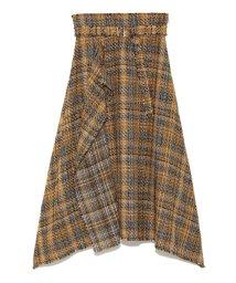 Mila Owen/ツイードヘムラインスカート/501033856