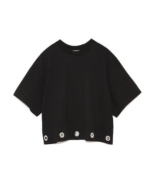 Mila Owen(ミラオーウェン)/アイレットヘム短丈ワイドTシャツ/09WCT182099