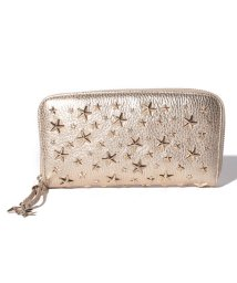 JIMMY CHOO/JIMMY CHOO FILIPA WDS LIGHT GOLD ラウンドファスナー長財布/501031702