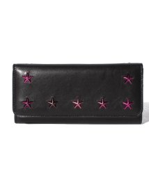 JIMMY CHOO/JIMMY CHOO NINO UTL BLACK/CERISE MIX 長財布/501031713