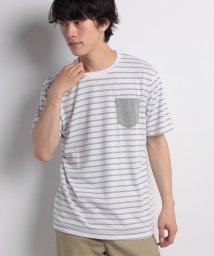 STYLEBLOCK/消臭加工デオドラント0.5cmボーダーポケット付半袖Tシャツカットソー/501005711