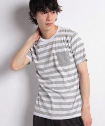 STYLEBLOCK/消臭加工デオドラント2cmボーダーポケット付半袖Tシャツカットソー/501005712