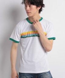 STYLEBLOCK/レインボープリントリンガーTシャツ/501005714