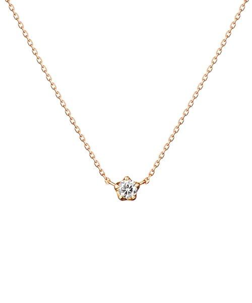 K18ピンクゴールド ダイヤモンド ネックレス