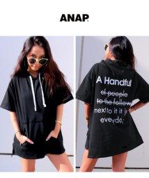 ANAP/バックロゴフーディーBIGトップス/501032932
