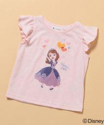 ROPE' PICNIC KIDS/【ROPE' PICNIC KIDS】【DISNEY】袖フリルTシャツ(プリンセス)/501037021