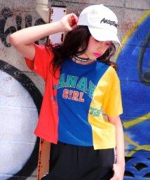ANAP GiRL/リメイク風切替ロゴTシャツ/501025320