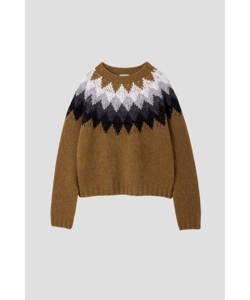 MARGARET HOWELL(マーガレット・ハウエル)/DIAMOND FAIRISLE JUMPER/5788263006