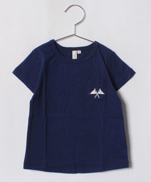 LAGOM(ラーゴム)/フラッグプリントポケットTシャツ(子供)/1206806231411