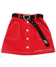 ALGY/ベルト付き前ボタンスカート/501037175