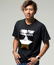 CavariA/CavariA【キャバリア】スパンコールデザインクルーネック半袖Tシャツ/501047566