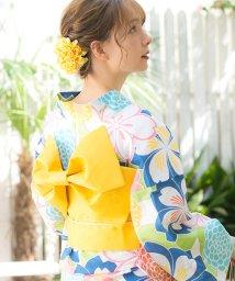 Dita/Dita【ディータ】1人で簡単に着られる作り帯の可愛い女性浴衣 4点フルセット(ゆかた・作り帯・下駄・着付けカタログ)/501047583