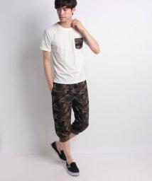 STYLEBLOCK/カモフラ柄ミニ裏毛7分丈パンツ&ポケットTシャツ上下セット/501029791