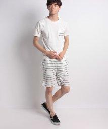 STYLEBLOCK/ボーダー柄ミニ裏毛ショーツ&ポケットTシャツ上下セット/501029792
