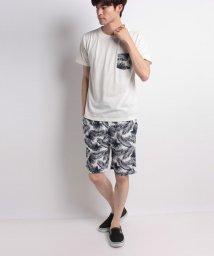 STYLEBLOCK/リーフ柄ミニ裏毛ショーツ&ポケットTシャツ上下セット/501029793