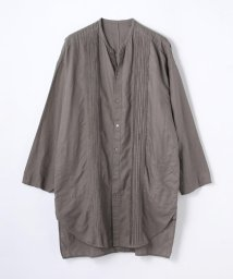 GALERIE VIE/コットンリネン ランダムタックロングシャツ/501051424