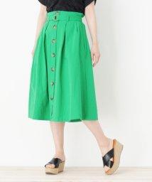 pink adobe/ベルト付きフロントボタンスカート/501052309