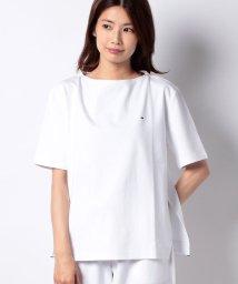 TOMMY HILFIGER WOMEN/【セットアップ対応商品】ボンデッドジャージボートネックTシャツ/500887813