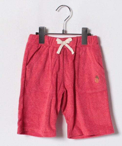 LAGOM(ラーゴム)/パイナップル刺繍パイルショートパンツ/1403557231411
