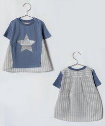 petit main/スター箔プリント入りTシャツ/501037427