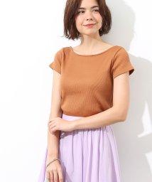 ROPE' mademoiselle/バックレースアップテレコ半袖Tシャツ/501051853