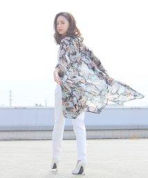 Grandeir/エアリーな透け感◆着痩せシースルーロングガウン【R】春 夏 グランディール[入荷済]/501053853