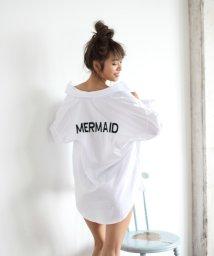 RINORINO./2018 新作 ゆったりシルエット MERMAID 刺繍シャツ ブラウス 日焼け対策 体型カバー UV マーメイド/501054357