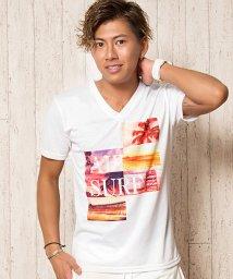 CavariA/CavariA【キャバリア】フォトプリントVネック半袖Tシャツ/501054920