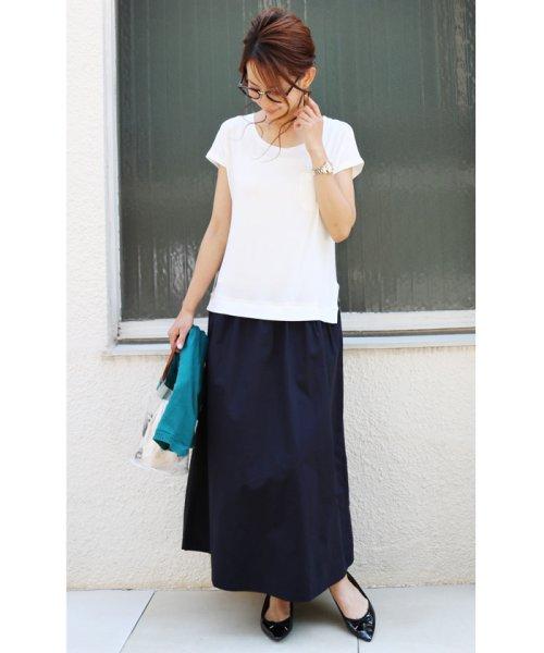 and Me...(アンドミー)/【J-1】Tシャツ ドッキング ワンピース カットソー ロングスカート/1000519
