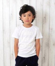GLAZOS/ウィークエンドプリント半袖Tシャツ/501055845