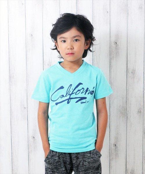 GLAZOS(グラソス)/接触冷感Californiaプリント半袖Tシャツ/g8208201