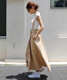 and Me.../【L-6】フレアスカート ジャンパースカート ワンピース ロング丈 ツイル素材/501056860